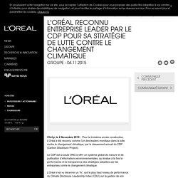 L'Oréal reconnu entreprise leader par le CDP pour sa stratégie de lutte contre le changement climatique-L'Oréal Groupe