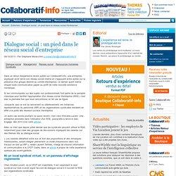 Dialogue social : un pied dans le réseau social d'entreprise