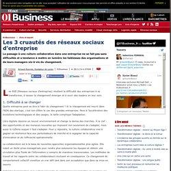 Les 3 cruautés des réseaux sociaux d'entreprise par @arayrole #collaboration