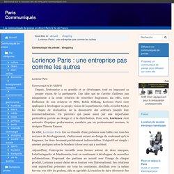 Lorience Paris : une entreprise pas comme les autres - Paris Communiqués