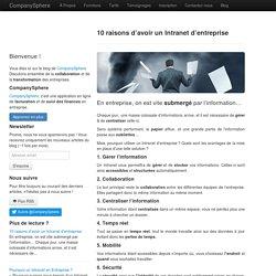 10 raisons d'avoir un Intranet d'entreprise - CompanySphere