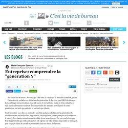 """Marie-Françoise Damesin: Entreprise: comprendre la """"génération Y"""""""