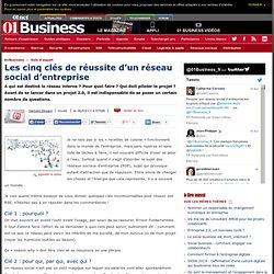 Les 5 clés de réussite d'un réseau social d'entreprise par @damiendouani #e20