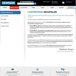 L'entreprise Decathlon