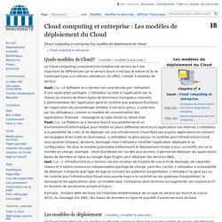 Cloud computing et entreprise/Les modèles de déploiement du Cloud