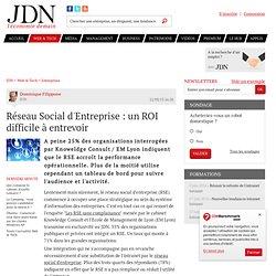 Réseau Social d'Entreprise : un ROI difficile à entrevoir