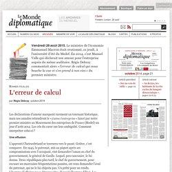 L'erreur de calcul qui nous bouche la vue, par Régis Debray (Le Monde diplomatique, octobre 2014)