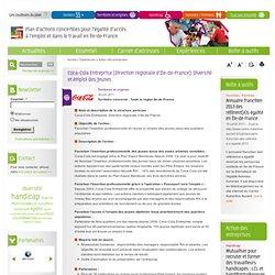 Coca-Cola Entreprise (Direction régionale d'Ile-de-France): Diversité et emploi des jeunes