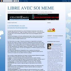 LIBRE AVEC SOI MEME: L'ENTREPRISE (6) LES DYSFONCTIONNEMENTS