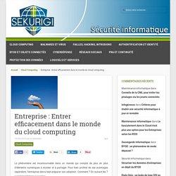 Entreprise: Entrer efficacement dans le monde du cloud computing