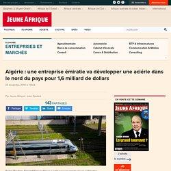 Algérie : une entreprise émiratieva développer une aciérie dans le nord du pays pour 1,6 milliard de dollars
