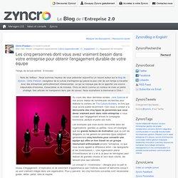 Les 5 personnes dont vous avez besoin dans votre entreprise pour obtenir l'engagement. Zyncro Blog France