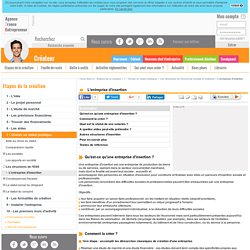 L'entreprise d'insertion - AFE, Agence France Entrepreneur