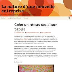 Créer un réseau social sur papierLa nature d'une nouvelle entreprise > La nature d'une nouvelle entrepriseLa nature d'une nouvelle entreprise