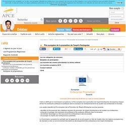 Prix européen de la promotion de l'esprit d'entreprise - APCE, agence pour la création d'entreprises