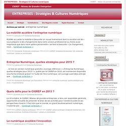 ENTREPRISES : Stratégies & Cultures numériques -