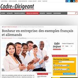 Bonheur en entreprise: des exemples français et allemands