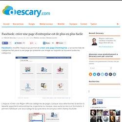 Facebook: créer une page d'entreprise est de plus en plus facile