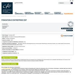 Fondation d'entreprise EDF