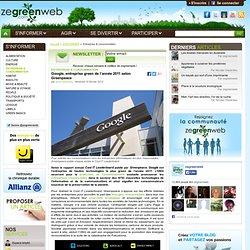 Google, entreprise green de l'année 2011 selon Greenpeace
