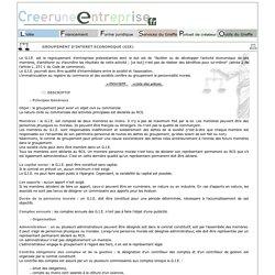 Créer une entreprise : GROUPEMENT D'INTERET ECONOMIQUE (GIE)