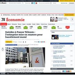 Suicides à France Télécom : l'entreprise mise en examen pour harcèlement moral