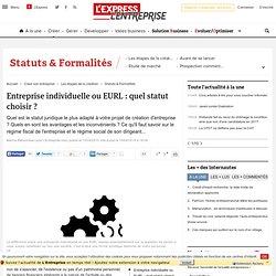 Entreprise individuelle ou EURL : quel statut choisir ?