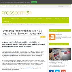 [Entreprise Premium] Industrie 4.0 : la quatrième révolution industrielle ?