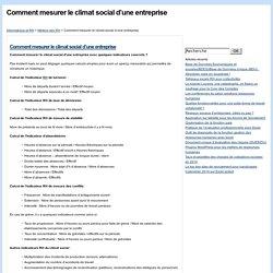 Comment mesurer le climat social d'une entreprise