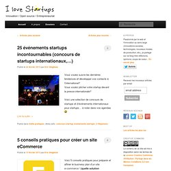 i love startups : nouvelles idées, nouveaux marchés, fortes croissancesI love startups