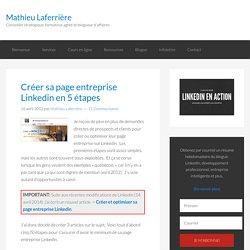 Créer sa page entreprise linkedin en 5 étapes
