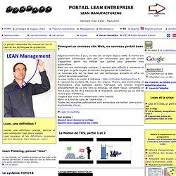 Portail Lean Entreprise - Lean Manufacturing HC online