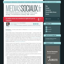 Les médias sociaux sous-entendent de l'agilité de la part de l'entreprise