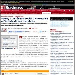SeeMy : un réseau social d'entreprise à l'écoute de ses membres #startup #e20