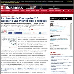 La réussite de l'entreprise 2.0 nécessite une méthodologie adaptée par @arayrole #e20