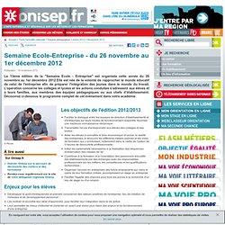 Semaine Ecole-entreprise - du 21 au 26 novembre 2011