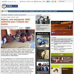 Ndomo, une entreprise 100% malienne pour l'emploi des jeunes