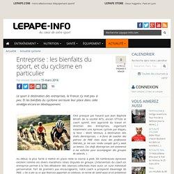 Entreprise : les bienfaits du sport, et du cyclisme en particulier