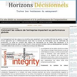Comment les valeurs de l'entreprise impactent sa performance globale