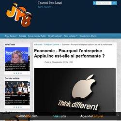 Pourquoi l'entreprise Apple.inc est-elle si performante ?