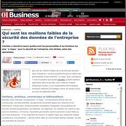 Sécurité entreprise données fonctions personnalités
