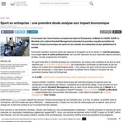 Sport en entreprise : une première étude analyse son impact économique