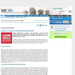 Accords d'entreprise - Capgemini s'engage en matière d'égalité professionnelle