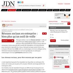 Réseaux sociaux en entreprise : bien plus qu'un outil de veille - Réseau social en entreprise et productivité - Journal du Net Solutions