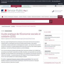 Entreprise solidaire -Guide pratique de l'Économie sociale et solidaire (ESS) - professionnels