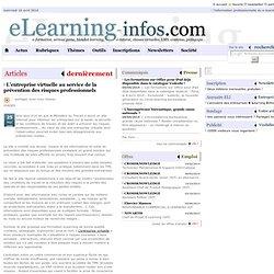 L'entreprise virtuelle au service de la prévention des risques professionnels