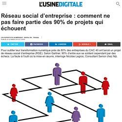 Réseau social d'entreprise : comment ne pas faire partie des 90% de projets qui échouent