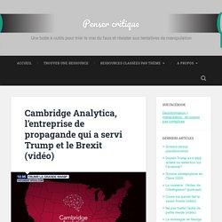 Cambridge Analytica, l'entreprise de propagande qui a servi Trump et le Brexit (vidéo)