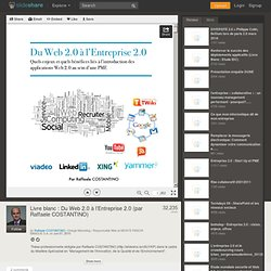 Livre blanc : Du Web 2.0 à l'Entreprise 2.0 (par Raffaele COSTANTINO)