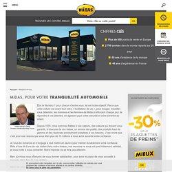 Entreprise Midas, entretien et réparation de voitures en France